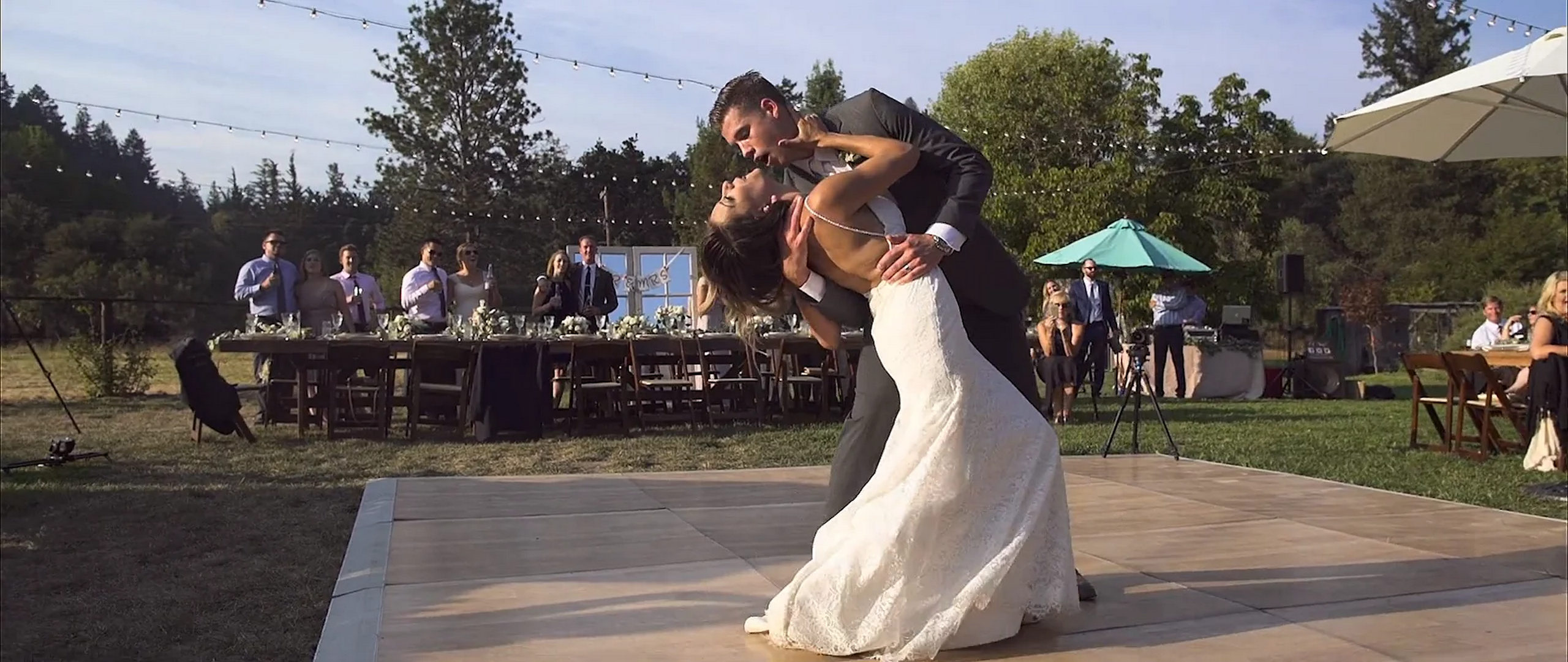 Audrey and Jason Bridgewater Farm Scotts Valley Santa Cruz wedding videographer