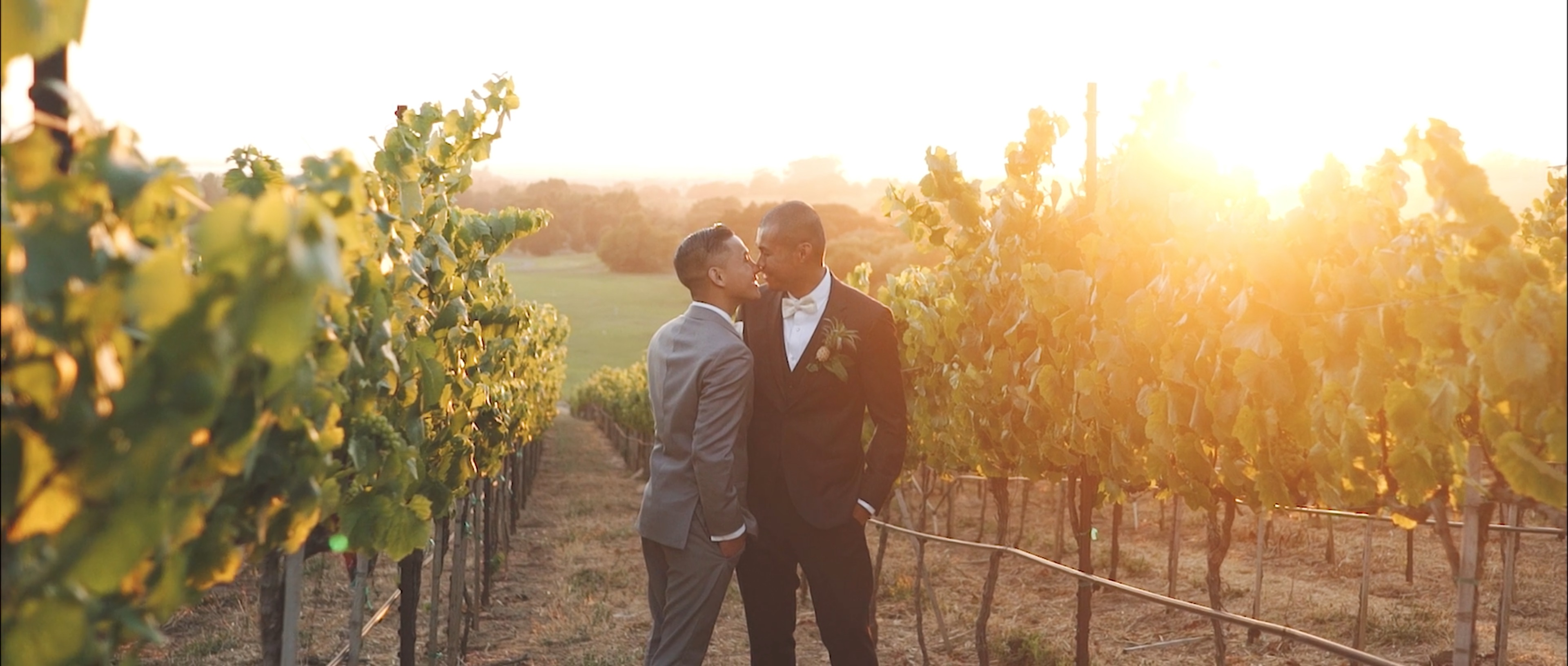 Marvin and Sal Chardonnay Same Sex Wedding Videographer Napa Valle
